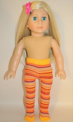 "American Girl Doll Our Generation Journey 18"" Dolls Clothes Striped Tights"