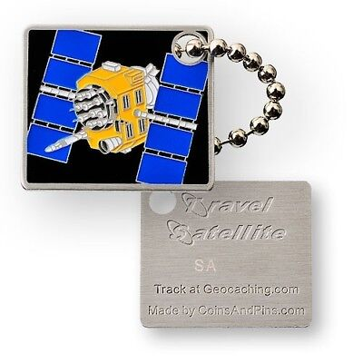 Satellite Travel Tag - Trackable for Geocaching