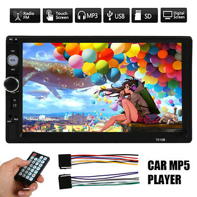 2 DIN Touch Screen 7 inch HD MP5 Car Stereo Radio Universal FM Player Bluetooth