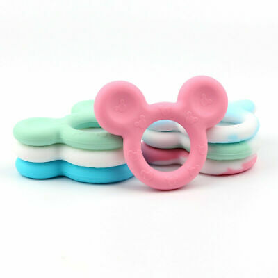 Silicone Baby Teether Infant Teething Chewable Ring Mickey Toy BPA Free