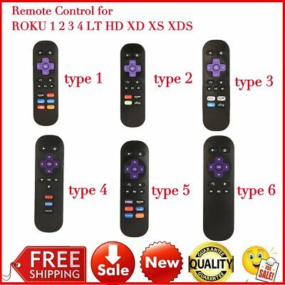 New Technology Replacement Remote Control For ROKU TV 1/ 2/ 3/ 4 LT HD XD XS IN