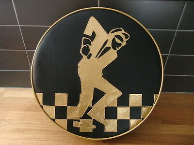 Gold Skaman Check Stripe Scooter Wheel Cover  Vespa/ Lambretta