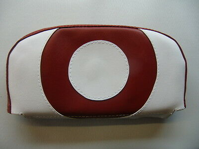 Oxblood and White Target Scooter Back Rest Cover (Purse Style)