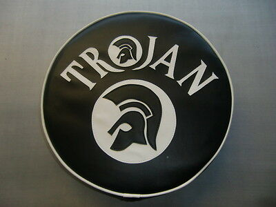 Black/White Trojan and Trojan Head Scooter Wheel Cover