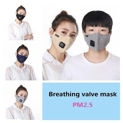 Multi Layer Filter Face Mask Cover Anti Dust Fog Haze Air Purifying Mouth Muffle