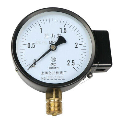 Air Hydraulic Pressure Gauge Manometer for Water Air Oil Dial Instrument