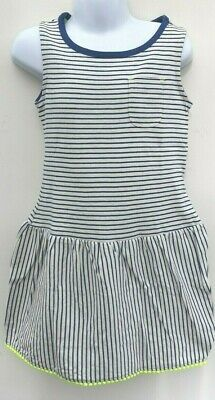 Girls Sleeveless Bobble Trim Dress Ex Mini Boden Stripe Dress Age 2 - 16