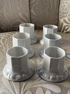 Set Of Six Rosenthal Maria White Rose Match Strikers Holders Germany