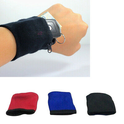 AU Portable Sports Running Gym Wrist Band Bag Pouch Card Key Holder Safe Wallet