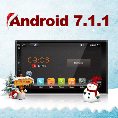 """7.1 Car Stereos Universal 7""""Android 2 Din GPS Navigation Bluetooth WIFI SD USB"""