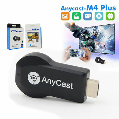 AnyCast M4 Plus WiFi Display Dongle-Empfänger Airplay Miracast HDMI TV 1080P QH
