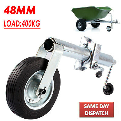 Quality 48MM W/ Clamp Shaft Jockey Wheel For Trailer Caravan 400KG Nose Weight