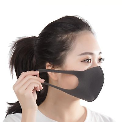 Black Pita Mask Dark Gray Japanese Anti-pollution / Dust Mask 3 Pieces Of Conven