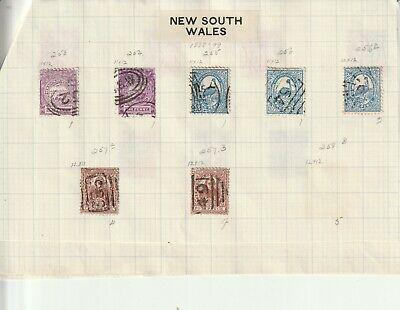 Colonial New South Whales State Stamps on Pages