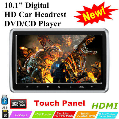 """10.1"""" Auto Media DVD Player Car Headrest DVD CD Player HDMI FM Game Touch Panel"""