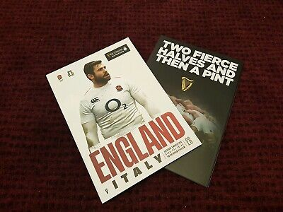 ENGLAND vs ITALY GUINESS SIX NATIONS 2019 Rugby Union Programme 09/03/19!