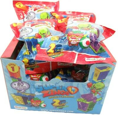 SUPERZINGS BOX 12 Bustine 2 Personaggi Hideout ORIGINAL Rivals of Kaboom Serie 1