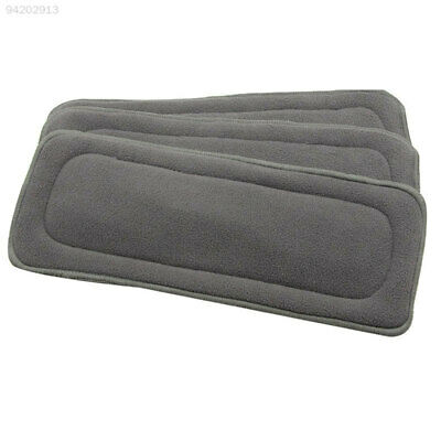 92EB 1PC 4 Layers Reusable Baby 70% Bamboo Charcoal 30% Cotton Liners Cloth