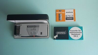 Grundig   EN 3 dictaphone/voice recorder with manual, 1 extra cartridge in ovp