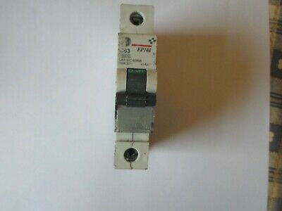 Ge Ep101 C63 63 Amp 10Ka (674291) Single Pole Mcb Circuit Breaker.