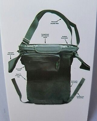 Stroller Organizer Universal Fit Zip Off Pouch Removable Shoulder Strap
