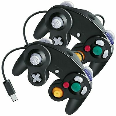 2 Pcs Game Controller Game Pad for Nintendo GameCube GC & Wii Black