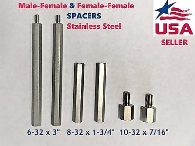 1/5/10pcs Hex Column Standoff Support Spacer Stainless Steel for PCB Board