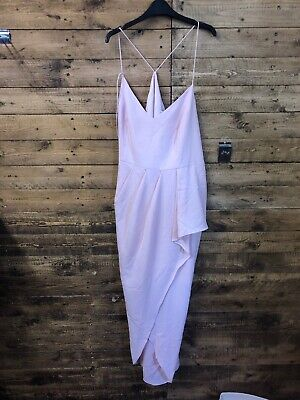 Very Strappy Back Frill Maxi Dress 20 Bnwt (strap Broken)