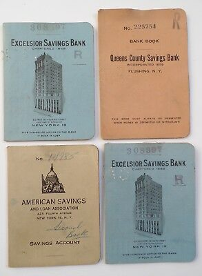 4 Vintage 1950s New York City Savings Bank Books owned by Comedian Will Jordan