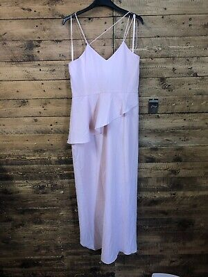 Very Strappy Back Frill Maxi Dress 16 Bnwt (strap Broken)