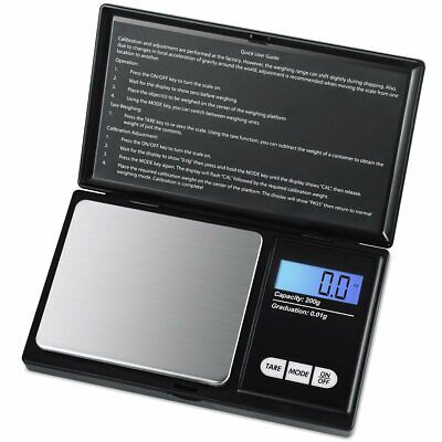 Small Mini Pocket Digital electronic weighing weight scale 0.01 g to 200 Gram