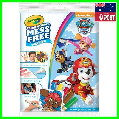 Crayola Colour Wonder Mess Free Paw Patrol Colouring Pages Markers