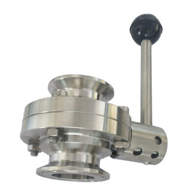 "51mm/2"" Tri Clamp Sanitary Butterfly Valve Stainless with Pull Handle"
