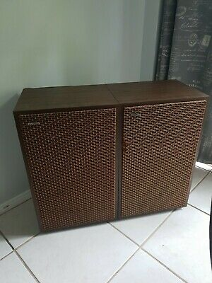 Vintage Nordmende European Stereo Amplifier with Philips Speakers
