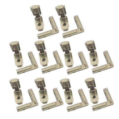 20x T Slot L-Shape Aluminum Profile Interior Connector Corner Bracket Joint