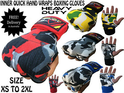 NEW CAMO INNER First Gel Bandages MMA boxing Inner Quick Hand Wraps Gloves strap