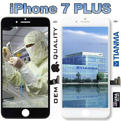 OEM Tianma® iPhone® 7+ Plus Replacement LCD Touch Screen Digitizer Black White