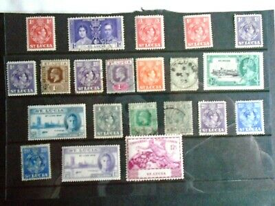 St Lucia old stamp collection