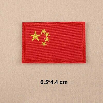 20e890240db Lot 12 Pcs Embroidery China Chinese Flag Iron Sew On Patch Applique Fabric