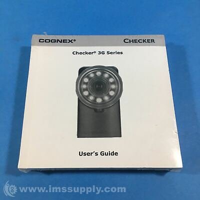 Cognex 590-7096 Checker 3G Series User Guide And Cd Fnip