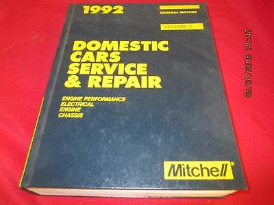 1992 Mitchel Manuals Domestic Cars General Motors Engine Electrical Chassis