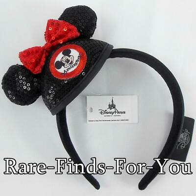 Disney Parks Minnie Mickey Mouse Club Mouseketeer Mini Sequin Ear Hat Headband