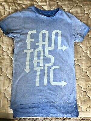 Next T Shirt, Boys 140 Cms Or 10 Years, FANTASTIC Slogan On Bright Blue
