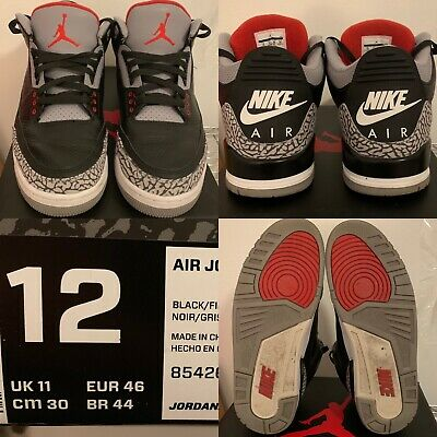 low priced 564e7 f41e7 AIR JORDAN 3 retro og black cement 2018