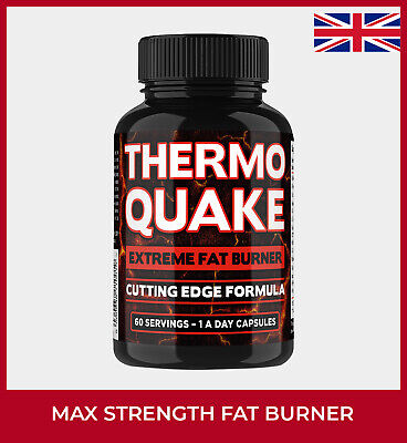THERMO QUAKE Fat Burner Slimming Pills For Weight Loss Diet STRONGEST UK Tablets