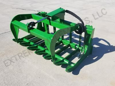 John Deere Compact Tractor 48 Root Grapple Bucket--100% USA COMPONENTS
