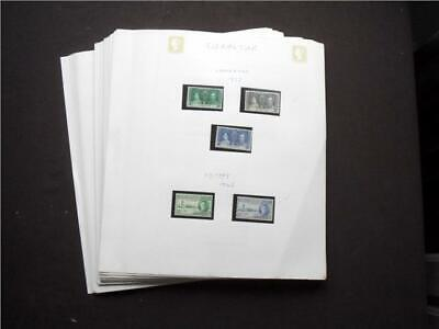 14484aj  GIBRALTAR MINT STAMPS & MINI SHEETS COLLECTION