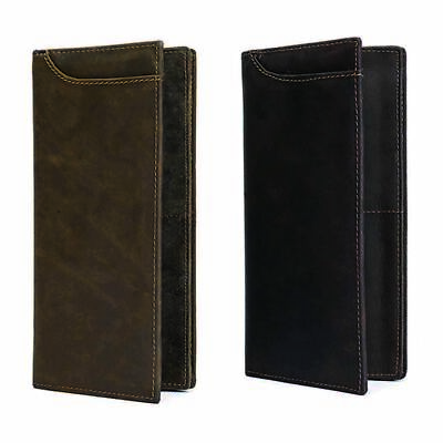 2019 Mens Real Cow Leather Long Wallet Bifold Cash Purses Credit Card Holder Bag