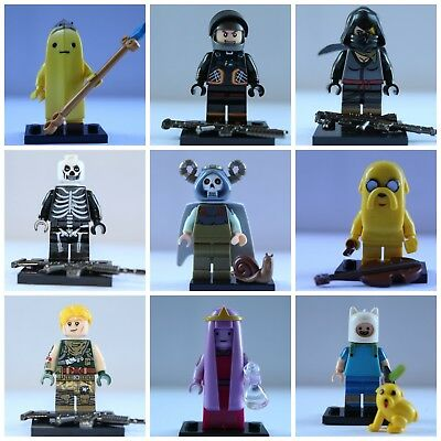 Soldier Adventure Time SpongeBob Video Game Cartoon Super lego Mini Figures