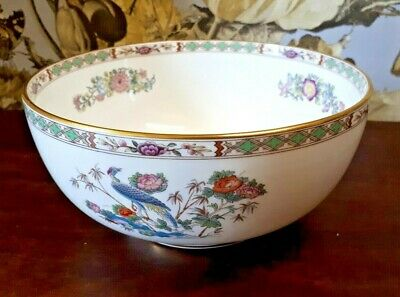 "Wedgwood Bone China KUTANI CRANE R4464 8"" Serving Bowl 1st VGC"